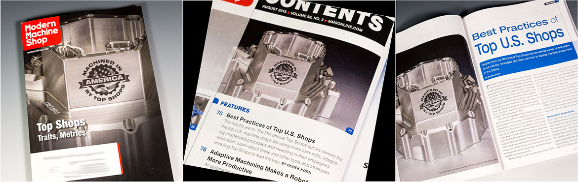 CNC Industries featured on cover of Modern Machine Shop magazine
