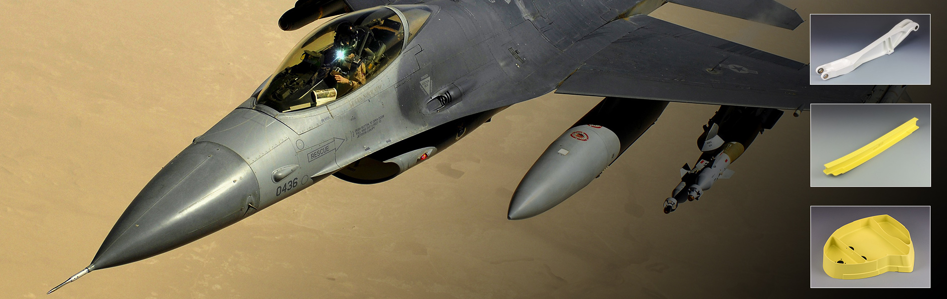 CNC Industries supplies machined parts for the F-16 Fighter