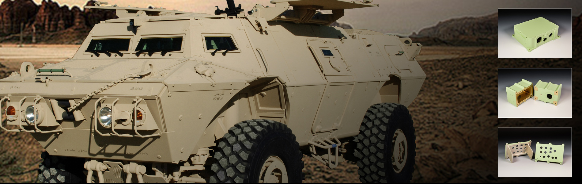 CNC Industries supplies machined parts for the Textron ASV (MRAP)