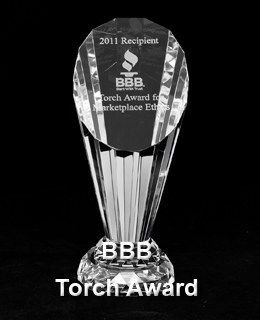 CNC Industries BBB Torch Award for marketplace ethics
