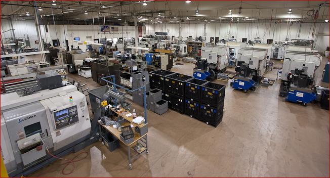 Partial view of CNC Industries shop floor